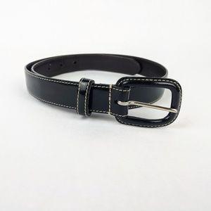 COACH Black Patent Leather Belt